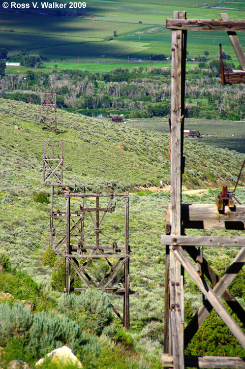 White Knob Mountain, Idaho ghost town photos from His and